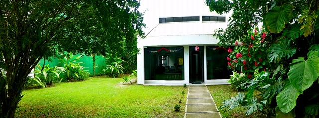 The Osa Tropical Office - tucked away from the street and surrounded by a tropical garden