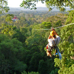 Canopy zip-line touring around the Golfo Dulce and Osa Peninsula