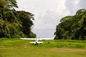 Flying into and out of Sirena Station in Corcovado National Park Costa Rica