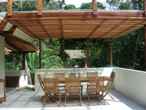 Outside seating area rent a beautiful vacation rental house in Matapalo