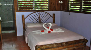 One of the bedrooms in Tucan Terra, Matapalo, Osa Peninsula, Costa Rica