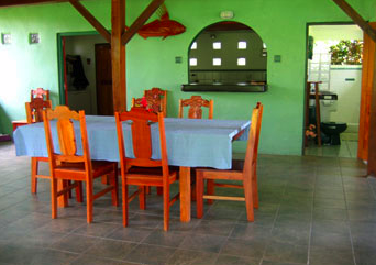Dining Room inside Casa Quinta Soñada a beautiful vacation rental house in Costa Rica Matapalo Osa Tropical